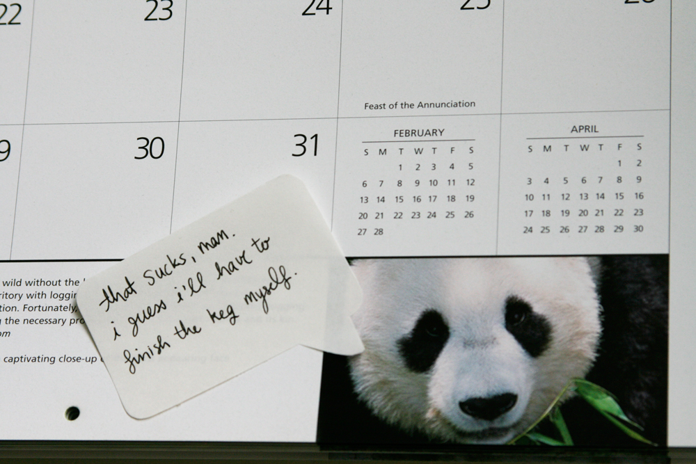 January 2011 Calendar With Notes. Giant Pandas 2011 calendar